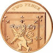 UK Two Pence Shield of the Royal Arms puzzle 2/6 2008 Proof KM# 1108 TWO PENCE coin reverse