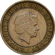 UK Two Pounds Marconi Telegraph 2001 KM# 1014 ELIZABETH∙II∙DEI∙GRA∙REG∙FID∙DEF ∙ IRB coin obverse