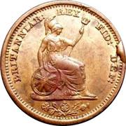 UK 1/2 Farthing 1828 Proof KM# 704.1a Pre-Decimal coinage BRITANNIAR: REX FID: DEF: coin reverse