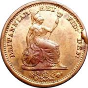 UK 1/2 Farthing George IV 1830 Large date KM# 704.2 BRITANNIAR: REX FID: DEF: coin reverse