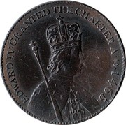 UK 1/2 Penny Essex - Hornchurch / George Cotton ND (1795)  EDWARD IV. GRANTED THE CHARTER A.D. 1465 coin obverse