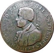 UK 1/2 Penny (Hampshire - Portsmouth / John Howard) IOHN HOWARD. F.R.S. PHILANTHROPIST. coin obverse