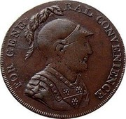 UK 1/2 Penny Middlesex - For General Convenience 1797  FOR GENERAL CONVENIENCE coin obverse