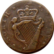 UK 1/2 Penny North Wales - Sr Bevois ND (1795-1800)  * NORTH . * . * WALES * coin reverse