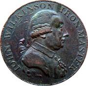 UK 1/2 Penny Warwickshire - Wilkinson 1795  IOHN WILKINSON IRON MASTER coin obverse