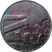 UK 1/2 Penny Warwickshire - Wilkinson 1795  1795 coin reverse