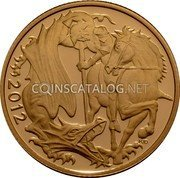 UK 1/2 Sovereign 2012 Proof KM# 1206 British Royal Mint Sovereign Coins 2012 PJD coin reverse