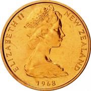 New Zealand 1 Cent Elizabeth II (2nd portrait) 1968 Prooflike KM# 31.1 ELIZABETH II NEW ZEALAND *YEAR* coin obverse