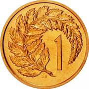 New Zealand 1 Cent Elizabeth II (2nd portrait) 1968 Prooflike KM# 31.1 1 JB coin reverse