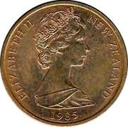 New Zealand 1 Cent Elizabeth II (2nd portrait) 1985 (o) KM# 31.2 ELIZABETH II NEW ZEALAND *YEAR* coin obverse
