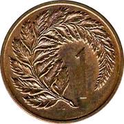 New Zealand 1 Cent Elizabeth II (2nd portrait) 1985 (o) KM# 31.2 1 JB coin reverse