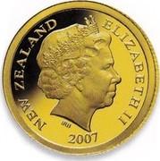 New Zealand $1 International Polar Year 2007 (m) Proof KM# 296 NEW ZEALAND ELIZABETH II 2007 IRB coin obverse