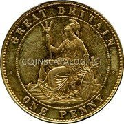 UK 1 Penny Joseph Moore Pattern 1860 GREAT BRITAIN ONE PENNY coin reverse