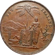 New Zealand 1 Penny Milner & Thompson - Christchurch 1857 KM# Tn49 NEW ZEALAND coin obverse