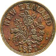 New Zealand 1 Penny Somerville M. - Auckland 1857 KM# Tn64 NEW ZEALAND 1857M coin reverse