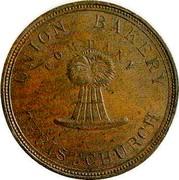 New Zealand 1 Penny Union Bakery Co. (1870-1879) KM# Tn65 UNION BAKERY COMPANY CHRISTCHURCH coin obverse