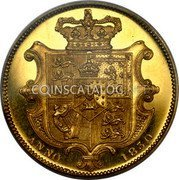 UK 1 Sovereign Pattern 1830 KM# Pn97 ANNO 1830 coin reverse