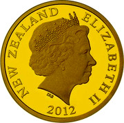 New Zealand $10 Bilbo Baggins 2012 Proof KM# 368 NEW ZEALAND ELIZABETH II IRB 2012 coin obverse