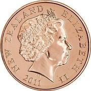 New Zealand 10 Cents 2011 (u) Proof KM# 117b Decimal Coins NEW ZEALAND ELIZABETH II *YEAR* IRB coin obverse