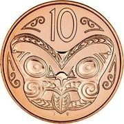 New Zealand 10 Cents 2011 (u) Proof KM# 117b Decimal Coins 10 J B coin reverse
