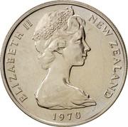 New Zealand 10 Cents Elizabeth II 1970 Proof KM# 41.1 ELIZABETH II NEW ZEALAND 1977 coin obverse