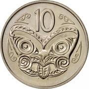 New Zealand 10 Cents Elizabeth II 1970 Proof KM# 41.1 10 J B coin reverse