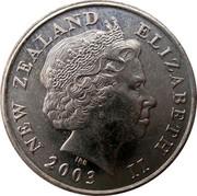 New Zealand 10 Cents Elizabeth II 2003 (c) Sets only KM# 117 NEW ZEALAND ELIZABETH II *YEAR* IRB coin obverse