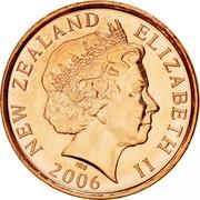 New Zealand 10 Cents Elizabeth II 2006 (o) KM# 117a NEW ZEALAND ELIZABETH II *YEAR* IRB coin obverse