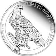 Australia 100 Dollars Australian Wedge-Tailed Eagle 2016 KM# 2220 AUSTRALIAN WEDGE-TAILED EAGLE 2016 1 OZ 9995 PLATINUM P JM coin reverse