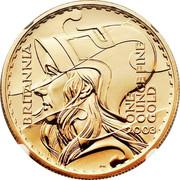 UK 100 Pounds Britannia 2003 British Royal Mint KM# 1043 BRITANNIA ONE OUNCE FINE GOLD 2003 PN coin reverse