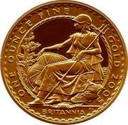 UK 100 Pounds Britannia 2005 British Royal Mint Proof KM# 1071 ONE OUNCE FINE GOLD 2005 BRITANNIA PN coin reverse