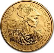 UK 100 Pounds Britannia 2010 Proof KM# 1138 BRITANNIA ONE OUNCE FINE GOLD 2010 coin reverse
