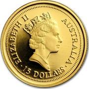 Australia 15 Dollars The Australian Nugget 1998 ELIZABETH II AUSTRALIA 15 DOLLARS coin obverse