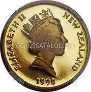 New Zealand 150 Dollars 1990 Proof KM# 77 Decimal Coins coin obverse