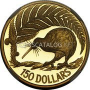 New Zealand 150 Dollars 1990 Proof KM# 77 Decimal Coins coin reverse