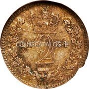 UK 2 Pence William IV 1834 Prooflike KM# 709 18 2 34 coin reverse