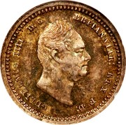 UK 2 Pence William IV 1834 Prooflike KM# 709 GULIELMUS IIII D:G: BRITANNIAR: REX F:D: coin obverse