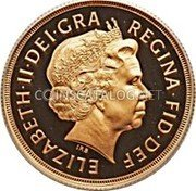 UK 2 Pounds 2002 British Royal Mint Proof KM# 1027 British Royal Mint Sovereign Coins ELIZABETH·II·DEI·GRA REGINA·FID·DEF IRB coin obverse