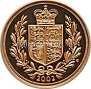 UK 2 Pounds 2002 British Royal Mint Proof KM# 1027 British Royal Mint Sovereign Coins 2002 TM coin reverse