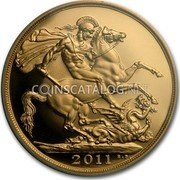 UK 2 Pounds 2011 British Royal Mint Proof KM# 1072.1 British Royal Mint Sovereign Coins 2011 B.P. coin reverse