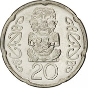 New Zealand 20 Cents Elizabeth II 2008 (o) KM# 118a 20 coin reverse