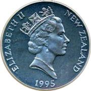 New Zealand 20 Dollars Salute to Bravery 1995 Proof KM# 100 ELIZABETH II NEW ZEALAND 1995 RDM coin obverse