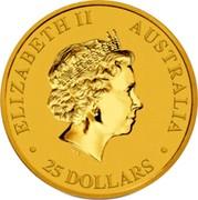 Australia 25 Dollars Australian Saltwater Crocodile 2017 ELIZABETH II AUSTRALIA 25 DOLLARS IRB coin obverse