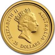 Australia 25 Dollars The Australian Nugget 1998 ELIZABETH II AUSTRALIA 25 DOLLARS coin obverse