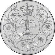 UK 25 Pence Queen's Silver Jubilee 1977  coin reverse