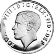UK 3 Pence The King Edward VIII Maundy Pattern 2016 EDWARVDS VIII : D : G : REX : FID : DEF coin obverse