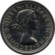 New Zealand 3d Elizabeth II 1962 KM# 25.2 + QUEEN∙ELIZABETH∙THE∙SECOND coin obverse