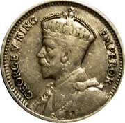 New Zealand 3d George V 1934 KM# 1 GEORGE V KING EMPEROR coin obverse