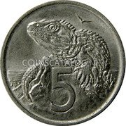 New Zealand 5 Cents 1985 (o) KM# 34.2 Decimal Coins coin reverse