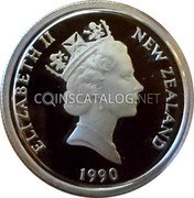 New Zealand 5 Cents 1990 Proof KM# 72a Decimal Coins coin obverse